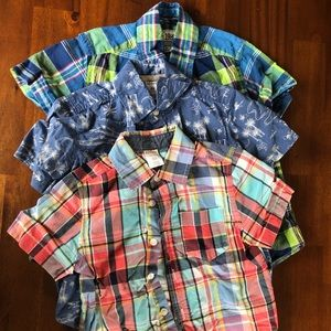 4T short sleeved boys Collared shirts